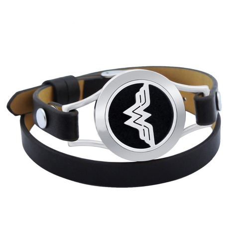 Leather Strap Diffuser Bracelet - Wonder Woman
