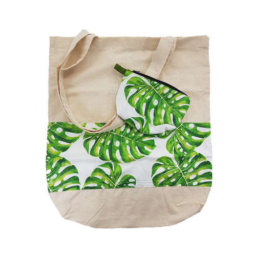 Kriayt Calico Bag & Purse Sets - Monstera Bright