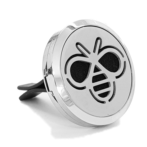 Stainless Steel Car Diffuser Clip - Bumble Bee