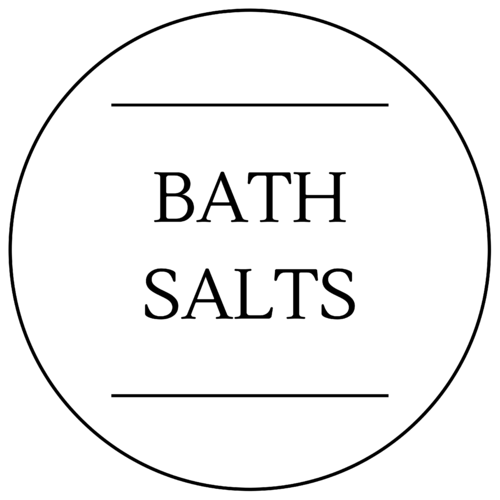 Bath Salts Label 40 x 40mm