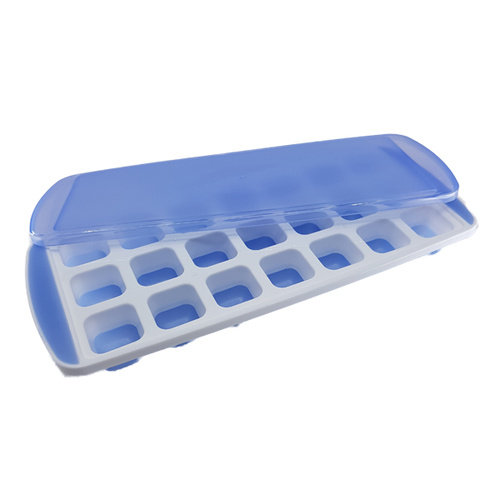 Ice Cube Square Mould with Lid - 21 Cavity
